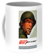 Who Wants To Know - Silence Means Security Coffee Mug