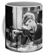 Silent Film Still: Sewing Coffee Mug by Granger