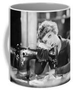 Silent Film Still: Sewing Coffee Mug