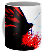 Silhouette Monarch With Red Coffee Mug