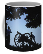 Silhouette Of A Boy And His Father Coffee Mug