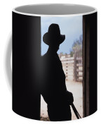 Silhouette Of A Cowboy In A Doorway Coffee Mug