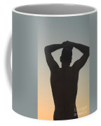 Silhouette Of A Man At Sunset Coffee Mug