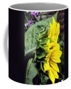 Silhouette Of A Sunflower Coffee Mug