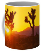 Silhouette Of Joshua Trees Yucca Coffee Mug