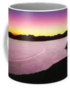 Silhouette Of Lone Cardon Cactus Plant Coffee Mug