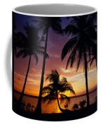 Silhouette Of Palm Tree On The Coast Coffee Mug