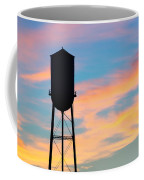 Silhouette Of Small Town Water Tower Coffee Mug