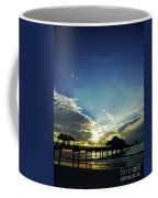 Silhouette Pier 60 Sunset Coffee Mug