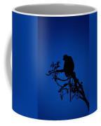 Silhouetted Proboscis Monkey Nasalis Coffee Mug