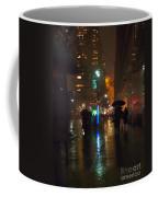 Silhouettes In The Rain - Umbrellas On 42nd Coffee Mug