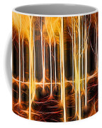 Silver Birches Flaming Abstract  Coffee Mug