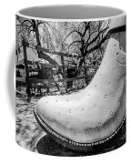 Silver Cowboy Boot Coffee Mug
