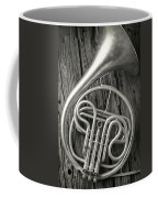 Silver French Horn Coffee Mug