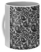 Silver Gray Paisley Design Coffee Mug