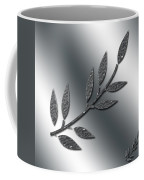 Silver Leaves Abstract Coffee Mug