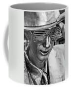 Silver Man Mime Coffee Mug