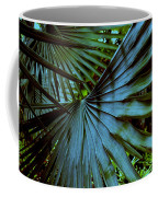 Silver Palm Leaf Coffee Mug