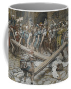 Simon The Cyrenian Compelled To Carry The Cross With Jesus Coffee Mug