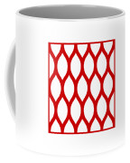 Simplified Latticework With Border In Red Coffee Mug