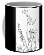 Simplistic Flower Sketch Coffee Mug