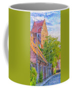 Simrishamn Street Scene Digital Painting Coffee Mug