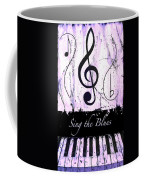 Sing The Blues Purple Coffee Mug