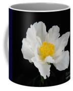 Singel White Peony Magnificence Coffee Mug