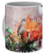 Singing Wren In The Lilies Coffee Mug