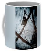 Single Bat Hanging Alone Coffee Mug