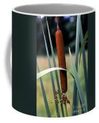 Single Cattail Coffee Mug