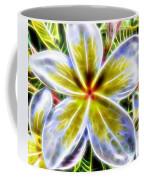 Single Fractal Frangipani Coffee Mug