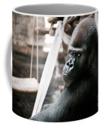 Single Gorilla Sitting Alone Coffee Mug