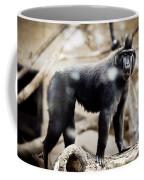 Single Macaque Monkey Standing Coffee Mug
