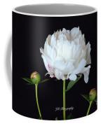 Single White Peony Coffee Mug