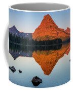 Sinopah Mountain Reflected In Two Medicine Lake At Sunrise Coffee Mug