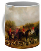 Sir Edmund Antrobus And The Old Surrey Fox Hounds At The Foot Of Coffee Mug