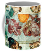Sistine Chapel Ceiling Creation Of The Sun And Moon Coffee Mug by Michelangelo