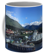 Sitka From The Waterfront Showing The Three Sisters In The Back 2015 Coffee Mug
