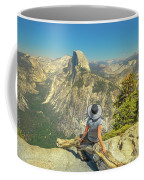 sitting at Glacier Point Coffee Mug