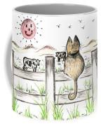 Sitting Watching Cows In The Meadow Coffee Mug
