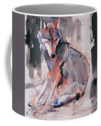 Sitting Wolf Coffee Mug