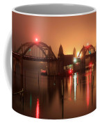 Siuslaw River Bridge At Night Coffee Mug