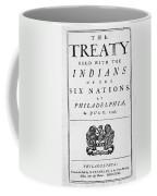 Six Nations Treaty, 1742 Coffee Mug by Granger