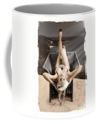 Sixties Classic Pin-up Beauty In Vintage Fashion Coffee Mug by Jorgo Photography - Wall Art Gallery