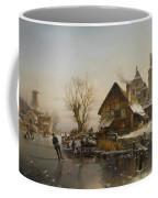Skaters On The Canal Coffee Mug