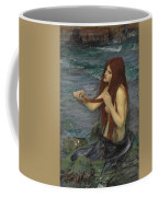 Sketch For A Mermaid Coffee Mug by John William Waterhouse