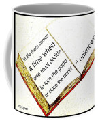 Sketch Of A Book With Quote Coffee Mug