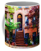 Sketch Of Carrie's Place From Sex And The City Coffee Mug