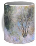 Sketch Of Halation Effect Through Trees Coffee Mug